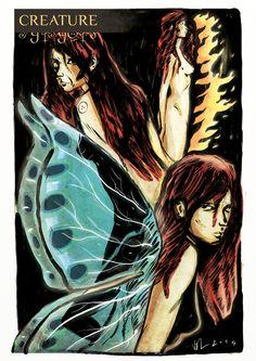 """Prima illustrazione inedita di """"CRATURE dal crepuscolo della percezione"""" (http://www.hyppostyle.com/joomla/produzione-futura-2/51-creature ) che troverete a Lucca Comics & Games presso lo stand di Hyppostyle."""