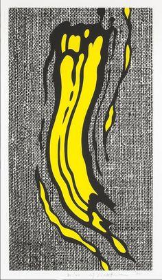 Roy Lichtenstein - Yellow Brushstroke (1985)