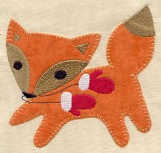 Woodland Wonderland Fox (Applique) | Urban Threads: Unique and Awesome Embroidery Designs