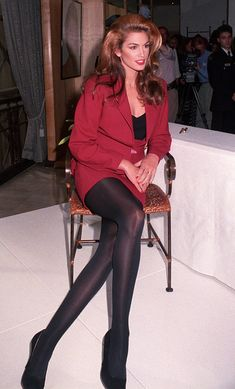 Cindy Crawford - The Ultimate '90s Fashion & Beauty Icon - legs for DAYS | @stylecaster