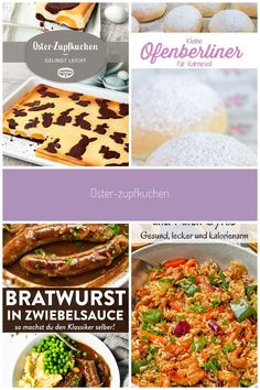 Oster-Zupfkuchen: Russischer Zupfkuchen mit Osterdeko vom Blech #osterfest #kaffeeundkuchen #osterbuffet # Oster-Zupfkuchen