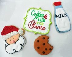 Christmas. Make these as felt ornaments instead of iced cookies!