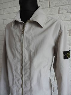 Vintage Stone Island Lampo Zip 80 s Men s Nylon Jacket Art No:32154S34/A Size L