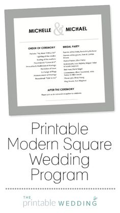Wedding ProgramsWedding Program WordingProgram SamplesProgram