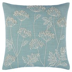Buy Duck Egg John Lewis Cow Parsley Cushion from our Cushions range at John Lewis.sofa cushion support panels Click visit link to read more - Cushions – Update Your Sofa With New Cushionspatio swing cushions 3 seat and back replacement Click VISIT Cushion Embroidery, Embroidered Cushions, Hand Embroidery Patterns, Embroidery Designs, Garden Embroidery, Printed Cushions, Cow Parsley, Cushions Online, Sewing Pillows