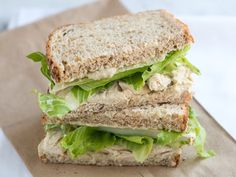 Spice up plain old chicken salad sandwiches with this yummy Italian-inspired take. It features a hearty, simple white bean spread with pesto—a healthier alternative to slathering your sammie in mayo! Keep the leftover spread tightly covered in the fridge, and use it for a veggie dip, cracker spread or for extra sandwiches throughout the week.