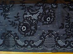 1m elastische All-Over-Spitze in schwarz Fb4000-ESP-1656