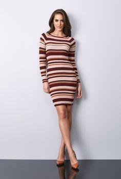 cdbb40f12 STRIPES! A atemporalidade das listras em um vestido de tricot super  COMFY!