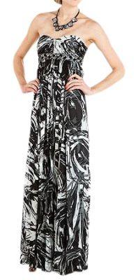 Black & White Empire Waist Dress