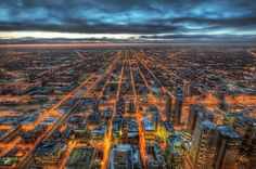 Looking down on Chicago from one of its highest buildings.  #treyratcliff at www.StuckInCustom... - all images Creative Commons Noncommercial