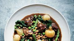 Ragout of Lamb and Spring Vegetables with Farro Recipe | Bon Appetit