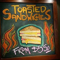 Tasty toasted sandwiches!