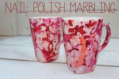I recently saw nail polish marbling recently on pinterest and thought it was a really interesting concept.... I just had to try it out! So I headed to the