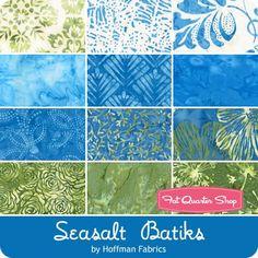 Seasalt Batiks Fat Quarter Bundle<BR>Hoffman Fabrics