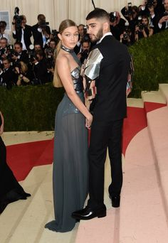 Pin for Later: Gigi Hadid and Zayn Malik Make Their Red Carpet Debut at the Met Gala
