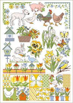 Lindner's kreuzstiche - Frühlingsgrüße