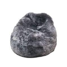 Kožešinový sedací vak Grey