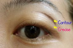Tutorial: Where to Apply Contour Eyeshadow Color on an Asian Eye