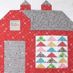 "Bee In My Bonnet: The Quilty Barn Along - Barn 12 and Easy Flying Geese and ""Furrows"" Block Tutorial!..."