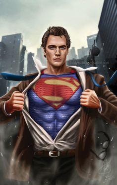 i really like to draw superheroes characters. here's superman Henry Superman, Superman Man Of Steel, Batman Vs Superman, Marvel Comics, Dc Comics Art, Marvel Dc, Superman Artwork, Superman Wallpaper, Drawing Superheroes