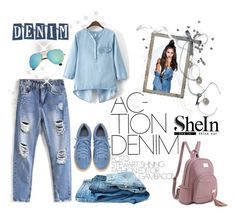 """DENIM SHEIN! I"" by mery-2601 ❤ liked on Polyvore featuring WithChic"
