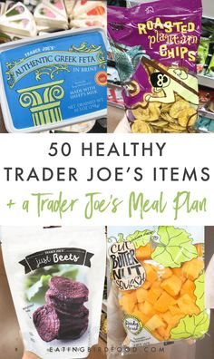 Here's a list of my top 50 healthy Trader Joe's must-haves for making delicious and nutritious meals! And don't forget to grab your free Trader Joe's healthy meal plan below! Trader Joes Vegetarian, Trader Joes Food, Trader Joes Healthy Snacks, Gluten Free Trader Joes, Trader Joe Meals, Vegetarian Dinners, Planning Budget, Meal Planning, Clean Eating Snacks