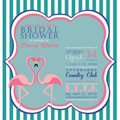 Adorable Flamingo wedding or bridal shower invitation by itcoa, @Janelle Hestin you better get these for me!!!!