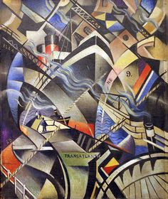 The Arrival. C.R. W. Nevelson (1889-1946) was one of the most famous painters of WW1. On leaving the Slade, Nevinson befriended Marinetti, the leader of the Italian Futurists, and the radical writer and artist Wyndham Lewis, who founded the short-lived Rebel Art Centre, whose members included Edward Wadsworth and Ezra Pound.