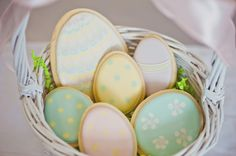 Easter cookies...they would even be great without frosting and just colored dough!