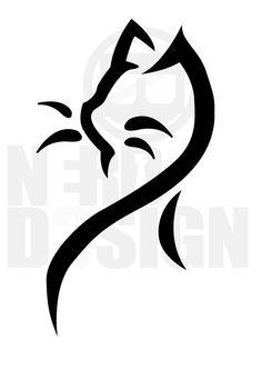 Cat Tribal Tattoo by NerdDesign