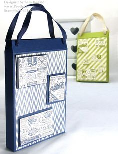 Http://www.Pootles.co.uk Stampin' Up! UK Demonstrator Sam Donald shares a quick but gorgeous shopping bag card holder. For this project's details, click here...