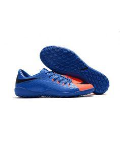 Nike Hypervenom Phelon III TF NA UMĚLÝ POVRCH Modrý Oranžový Černá Muži Leather Kopačky