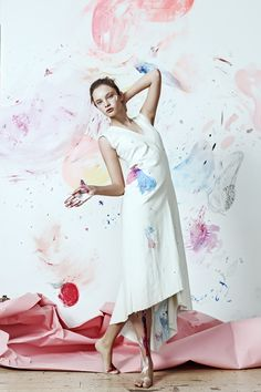 GO Authentic with Lisa Smirnova organic cotton dress with hand made embroidery.