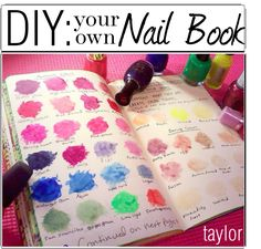 DIY: Nail Book by the-polyvore-tippersx, via Polyvore
