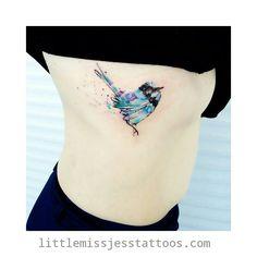 Love birds especially our little native fairy wrens! Thanks so much Tara! Happy healing by littlemissjesstattoos Watercolour Tattoos, Design Tattoo, Watercolor Animals, Animal Tattoos, Love Birds, Tattoo Studio, Tattoo Inspiration, Tattoo Artists, Cool Tattoos