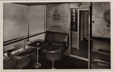The Smoking Lounge aboard the Hindenburg separated... - Historical Times