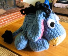 Loom Knit Eeyore http://theideasandcreationsfromthemuse.blogspot.com/2014/07/how-to-loom-knit-eeyore.html