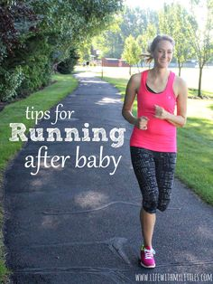 Tips for running after your baby is born. Great for both pre-pregnancy runners and new runners alike! Plus a printable running calendar! #ChampionGEAR #ad