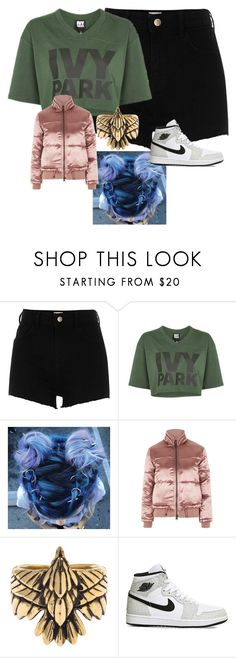 """""""🇬🇧🇬🇧🇬🇧🇬🇧"""" by lozzydutton01 ❤ liked on Polyvore featuring River Island, Ivy Park, Topshop, Pamela Love and NIKE"""