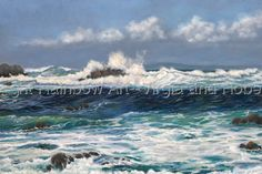 """""""Oregon Coast""""--Original Oil Painting  Esteemed awards juror, Mr. Timothy Riley, Director of the Trout Art Museum in Appleton. WI has selected the following award winner for Richeson75 International Landscape, Seascape & Architecture 2012:  Bob West of Mountain Home, Idaho for  """"Oregon Coast""""  2nd Place Oil and Acrylic  To Order a Reprint of """"Oregon Coast"""" visit Bob's Gallery at: www.rainbowart-online.com"""
