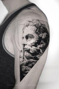 Portrait Drawings That Will Make You Want To Start Drawing – Bein Kemen Poseidon Statue, Poseidon Tattoo, God Tattoos, Celtic Tattoos, Drawing Tattoos, Tattoo Symbols, Tattoo Sketches, Drawings, Tattoo Ideas