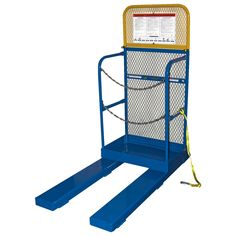 Elevate personnel and pallets to overhead racks and shelving for safe and convenient access with a Stock Picker Work Platform. Accommodates one person and a pallet. Attaches to fork truck by inserting Checkered Floors, Expanded Metal, Heavy Machinery, Drafting Desk, Trucks, Shelving, Pallets, Safety Work, Confined Space