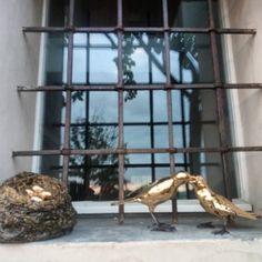 #bacio #kiss #contemporaryart #artwork #ceramica #gold #birds #cabiancadellabbadessa