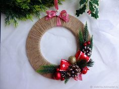 How to Make a Christmas Wreath – a free tutorial on the topic: DIY Projects ✓DIY ✓Steps-By-Step ✓With photos Christmas Candle Decorations, Christmas Wreaths To Make, Holiday Wreaths, Simple Christmas, Christmas Projects, Christmas Origami, Christmas Holidays, Holiday Decor, New Year's Crafts