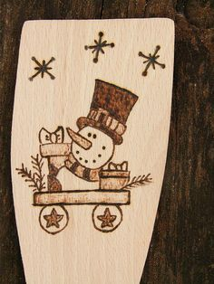 Merry Christmas snowman Personalised Wooden by Beecreativebox