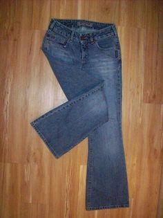SILVER VINTAGE LOW BOOT CUT SIZE 28 WOMENS STRETCH JEANS 28X30 EUC! H11 #SilverJeans #BootCut