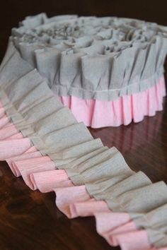 Hey, I found this really awesome Etsy listing at http://www.etsy.com/listing/155142248/pink-and-gray-ruffled-crepe-paper