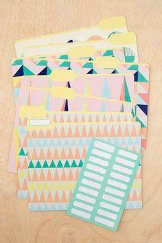 Geo Pastel File Folders Set