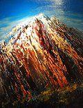 """Storm Mountain,"" Rob Adamson, 30x24, oil on canvas"