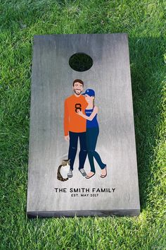 7482bb6b5 Miss Design Berry's custom cornhole boards are the PERFECT gift for any  newly engaged or married